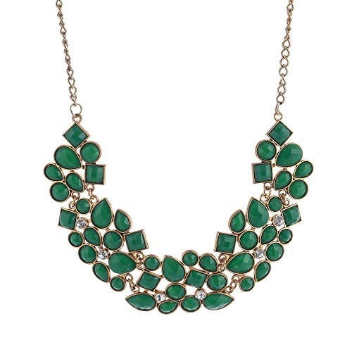 Shining Diva Fashion Jewellery Stylish Party Wear Choker Necklace For Girls and Women(Green)(8093np)
