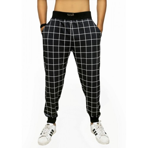 Yuvraah Printed Men & Women Black Track Pants