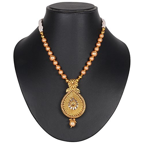 DS Ethnic Wear Gold Plated Party Wear Traditional Necklace Set With Earrings for Women and Girls