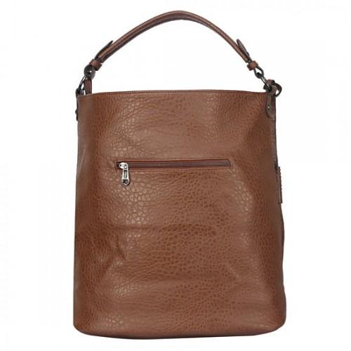 6cf28c2510 Buy Fiona Trends Dark coffee PU Zipper Shoulder Bag For Women online ...