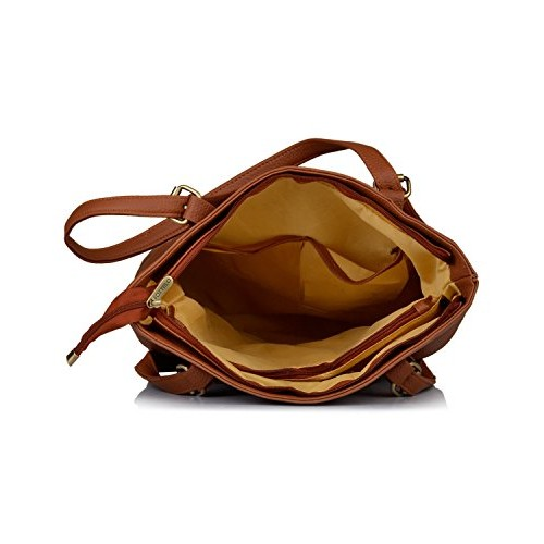 Fostelo Tan Polyurethane  Elisha Handbag