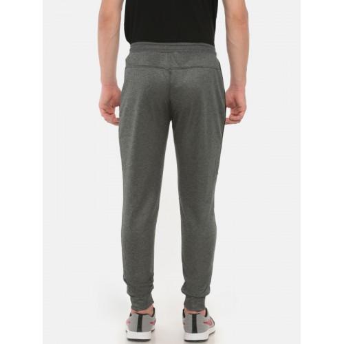 Proline Men Active Grey Melange Straight Fit Solid Joggers