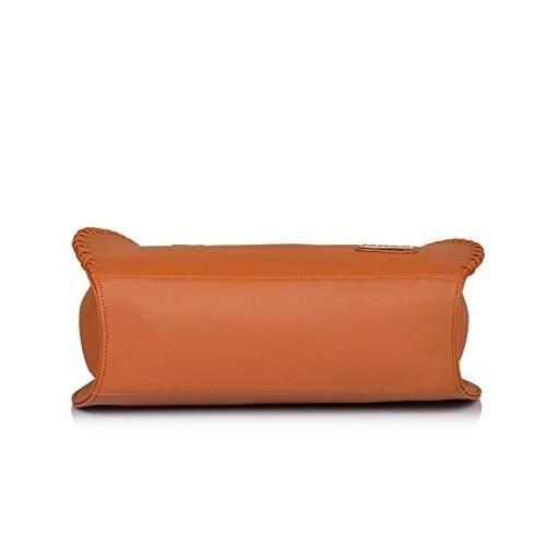 Fostelo Brown Polyurethane Textured Shoulder Bag