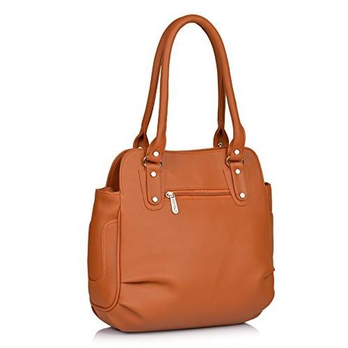 Fostelo Tan Polyurethane Solid Shoulder Bag