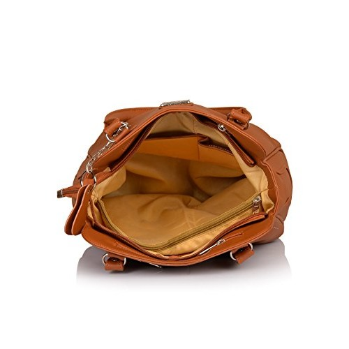 Fostelo Tan Polyurethane Solid Shoulder Bag
