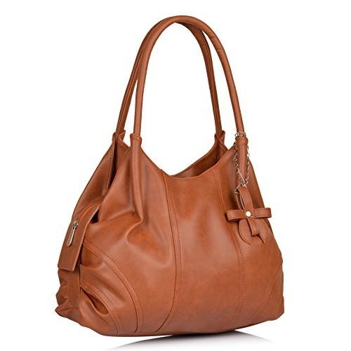 Fostelo Tan Polyurethane Combo Handbag & Clutch