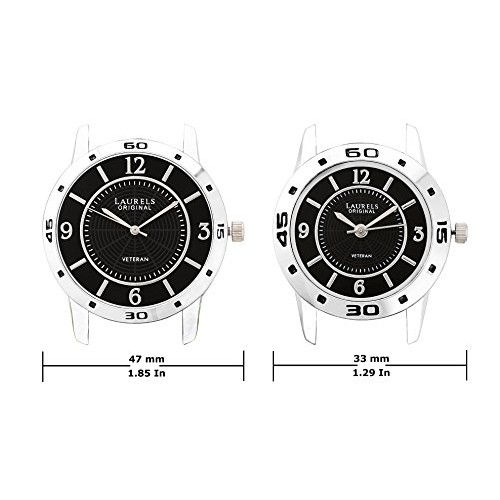 Laurels Analogue Black Dial Men's And Women's Couple Watch Lo-Lib-302