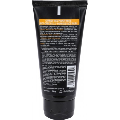 Garnier Men Power White Anti Dark Cells Face Wash