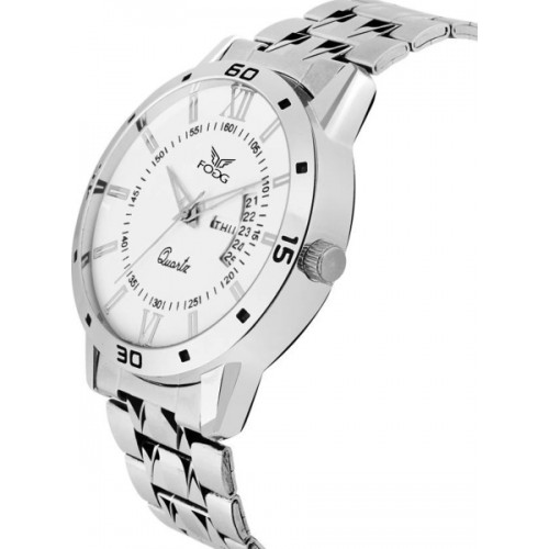 Fogg 2047-WH Day and Date Watch  - For Men