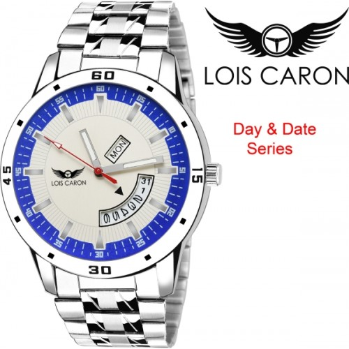 Lois Caron LCS-8034 DAY & DATE FUNCTIONING Watch  - For Men
