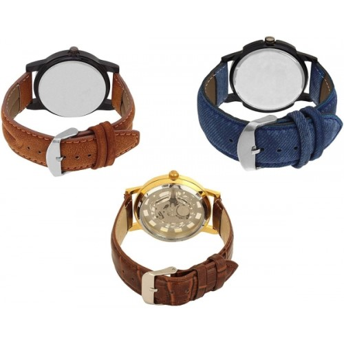 Aaradhya Fashion New Styalsih 2018 Atrractive Combo3 Analogue Watch  - For Men