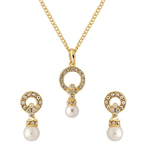d2c72f63bc6fd ... Voylla Traditional Alloy With Gold Plating Plated Cubic Zirconia Pendant  Sets For Women ...