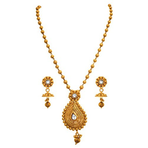 54db34e23ea Buy JFL - Traditional Ethnic One Gram Gold Plated Diamond Designer ...