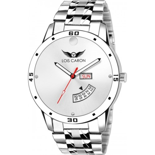 96030a803f8 ... Men  Lois Caron LCS-8059 WHITE DIAL DAY   DATE FUNCTIONING Watch - For  ...