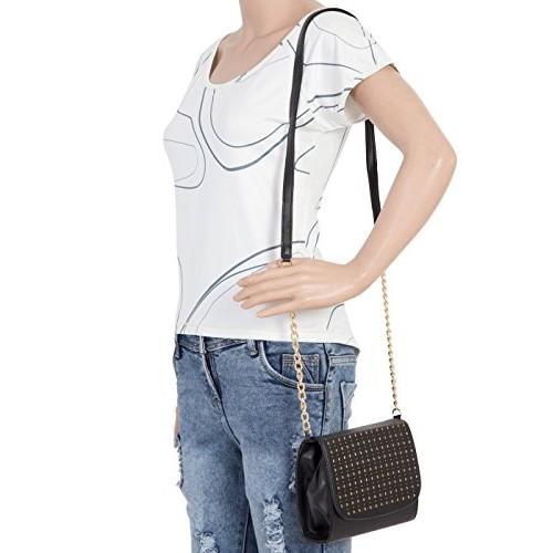 Adisa SL5010 Black Polyurethane Party sling bag