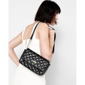 Lisa Haydon for Lino Perros Black Quilted Sling Bag