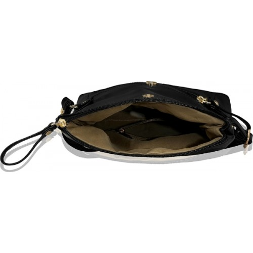 Kleio Women Black Leatherette Sling Bag