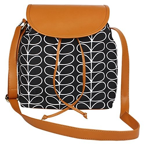 0bcfc2e8f7f0 Buy Lychee Bags Canvas PU Amie Sling Bag for Girls online