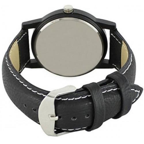 Om Sai Enterprise Analogue Black Mahadev Print Leather Watch