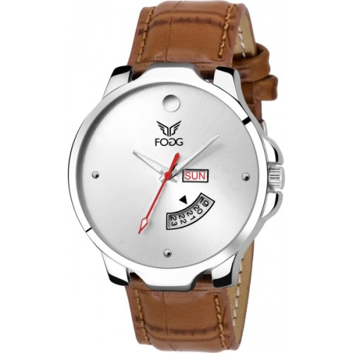 Fogg 1140-BR Brown Day and Date Watch  - For Men