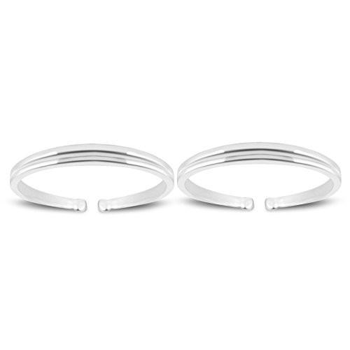 MJ 925 Simple Yet Elegant 92.5 Sterling Silver Toe Rings