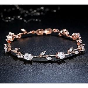 Yellow Chimes Exclusive Latest Rose Chain Swiss Zircons Designer Bracelet