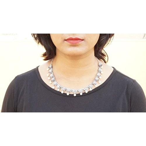 Sansar India Antique Oxidised Pearl Necklace