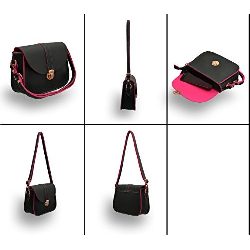 TAP FASHION Fancy Stylish PU Synthetic Women's Sling Bag with Adjustable Strap for Ladies and Girls
