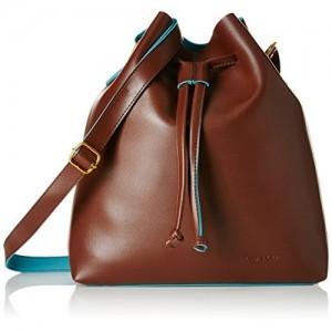 Kanvas Katha Women's Sling Bag (Dark brown) (KKKEN003)