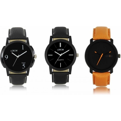 LOREM LR-05-06-20 Attractive Stylish Combo Watch  - For Men