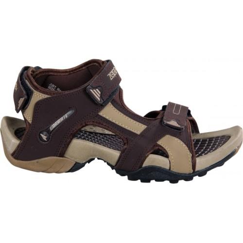 Zappy Men Brown Sports Sandals