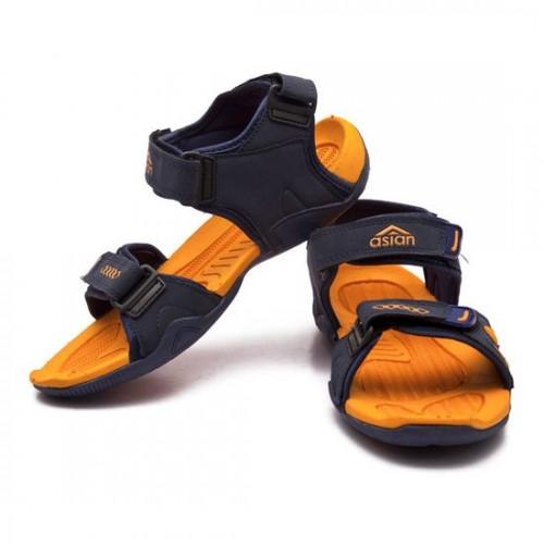 Asian Glide Navy Phylon Sandal For Men