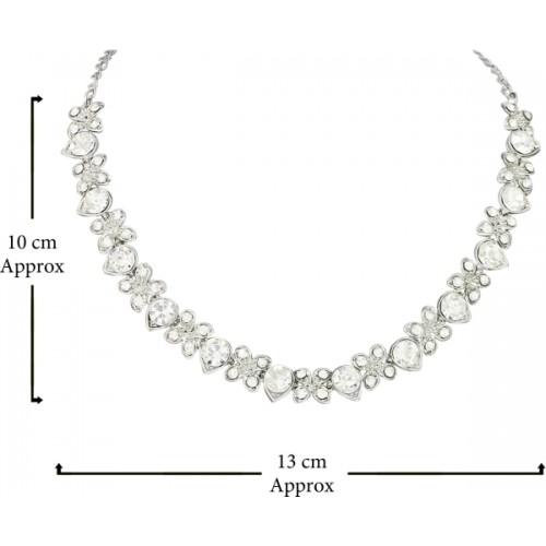 Atasi International Alloy Silver  necklace set
