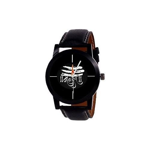 Sajavat Enterprise New Stylish Leather Belt Designer Dial Men & Women Watch - For Boys pack of 2