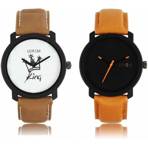 LOREM LR-18-20 Attractive Stylish Combo Watch  - For Men