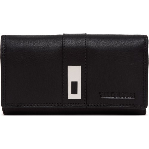 WildHorn Women Black Genuine Leather Wallet