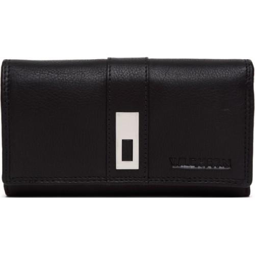 WildHorn Women Black Genuine Leather Wallet