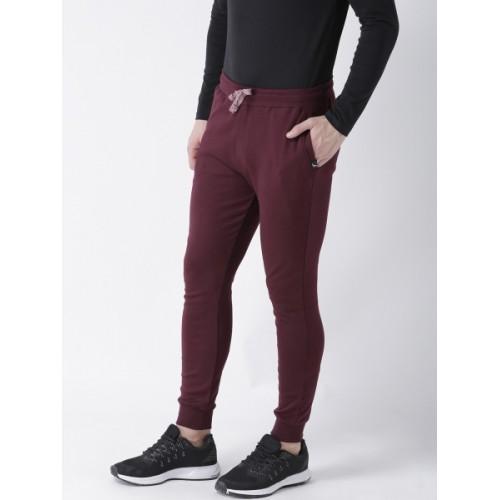 Young Trendz Solid Men's Maroon Track Pants