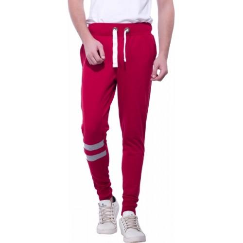 Alan Jones Solid Men's Maroon Track Pants