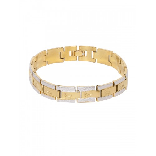 fa91effa4721a Buy Dare by Voylla Men Gold-Toned & Silver-Toned Brass Gold-Plated ...