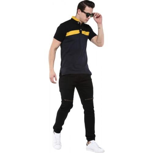 Urbano Fashion Slim Men's Black Jeans