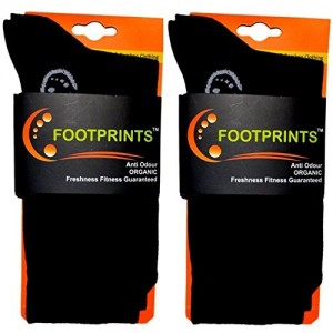 FootPrints Organic Cotton Odour free Men's Formal Socks Pack of 2- Black