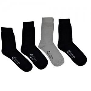 FootPrints Odourfree Organic Cotton Bamboo Men's Formal Socks Pack of 4 Pairs