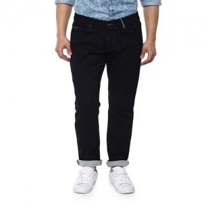 Spykar Regular Men's Black Jeans