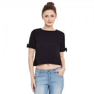 Miss Chase Womens Black Crop Top