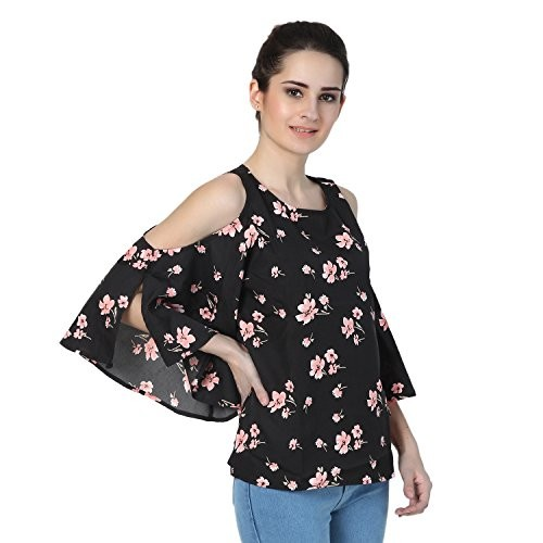dfd0b171c7d5ee Buy Jollify Blue womens cut shoulder top online | Looksgud.in