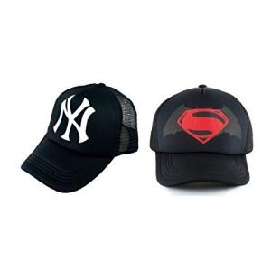 2f826fe4826 Michelangelo Superman Half Net CAP and Black NY Half Net UNISEX CAP COMBO