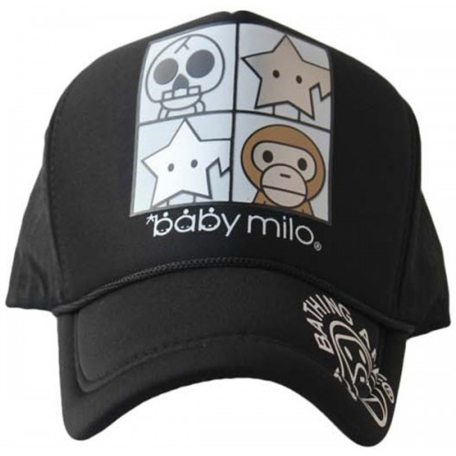 8642858f379 ... Friendskart Printed Printed Baby Milo Printed In Black Colour Half Net  Cap