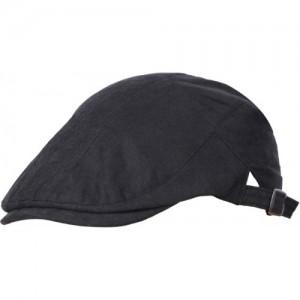 d7536cecccc FabSeasons Black Premium Cotton Golf Flat Cap with adjustable size strap Cap