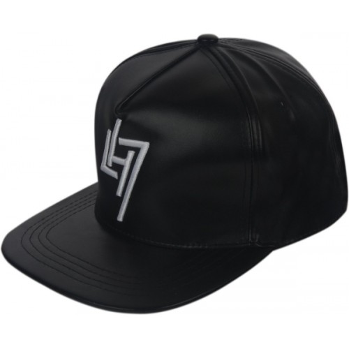 Buy ILU Solid caps black faux leather e3c3c0aa1a3f